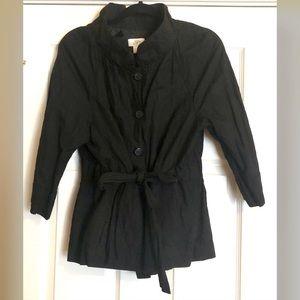 Ann Taylor Loft Factory Black Tie Front Jacket